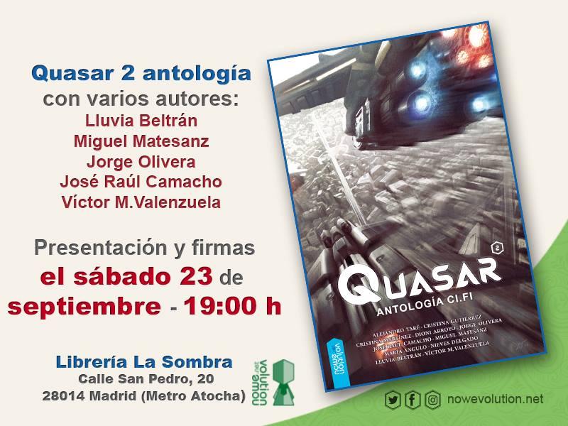 Cartel presentación Quasar 2