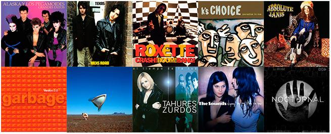 Las portadas de mis 10 álbumes destacados.